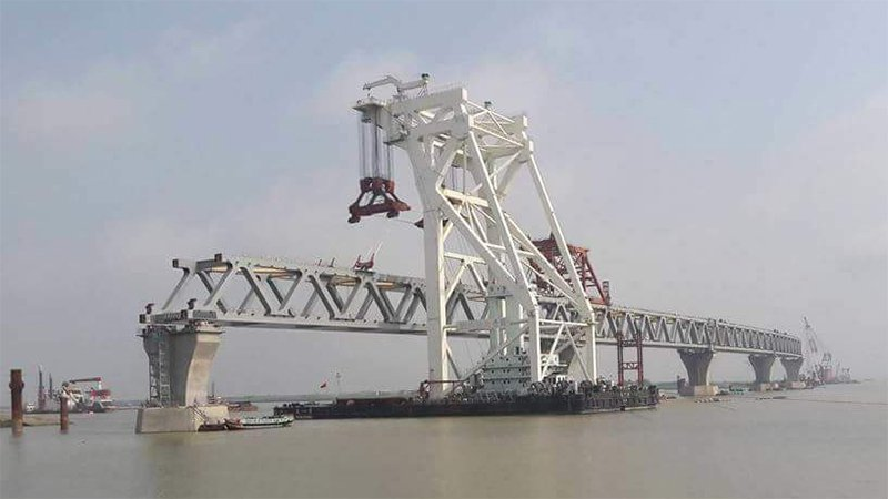 Padma Bridge's 15th span installed: 2250 meters now visible