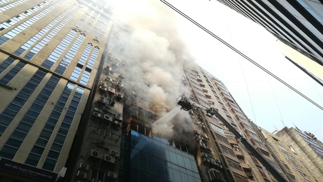 Fire at Banani's FR Tower