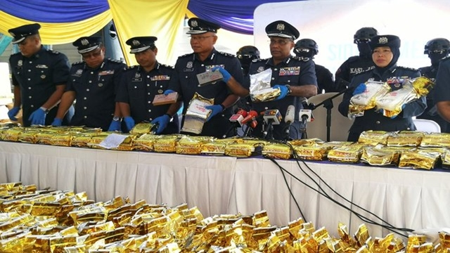 Malaysia seize huge crystal meth, shipped from Myanmar